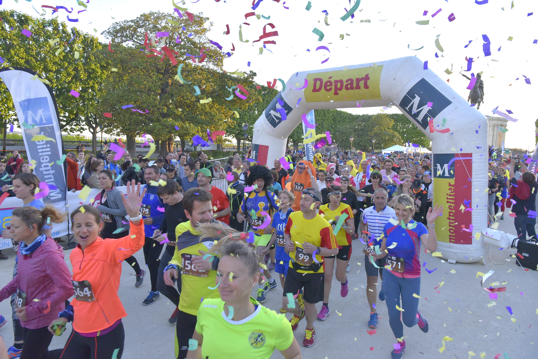 L'Urban Trail de Montpellier, marathon de 10 kilomètres.