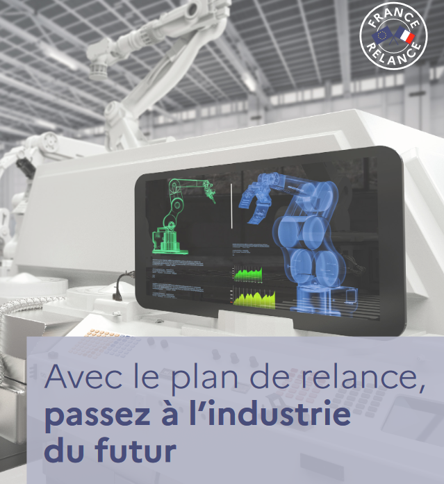 Visuel plan France Relance - Guichet industrie du futur