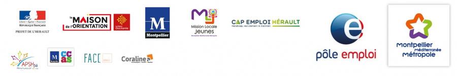 Logos des partenaires et organisateurs des Rencontres pour l'Emploi
