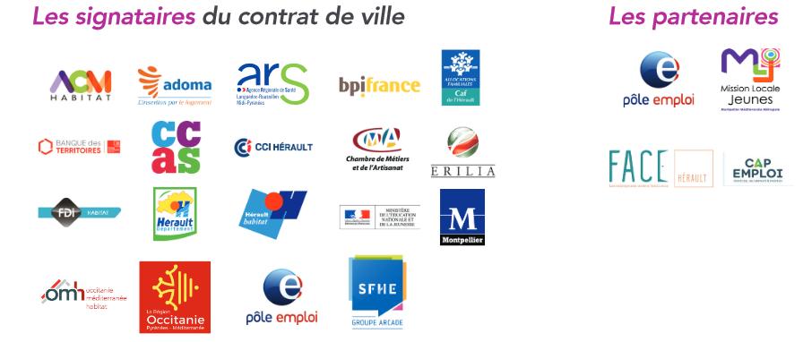 Les partenaires et signataires de la Charte Entreprises et Quartiers
