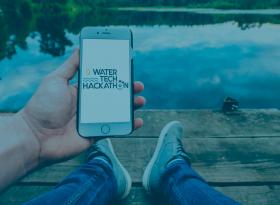 Affiche WaterTech Hackathon