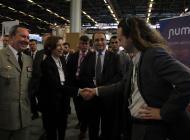 Rencontre de Mme. Florence Parly, ministre des Armées, et M. Arnault Ioualalen, PDG de Numalis.