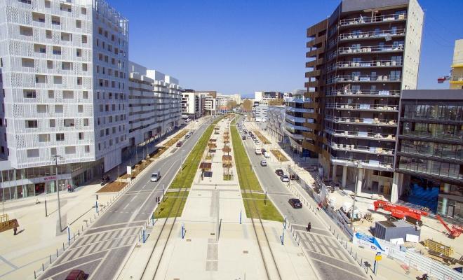 L'avenue Raymond Dugrand marque l'avancée de Montpellier vers la mer