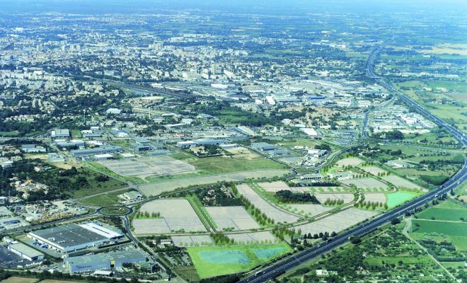 Le parc d'activités Garosud, dédié aux activités de négoce professionnelle et logistique. © Emmanuel Nebout