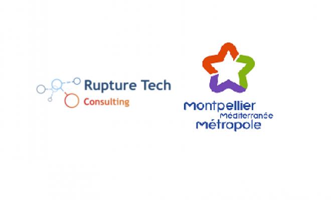 Logo Rupture Tech et Montpellier Méditerranée Métropole