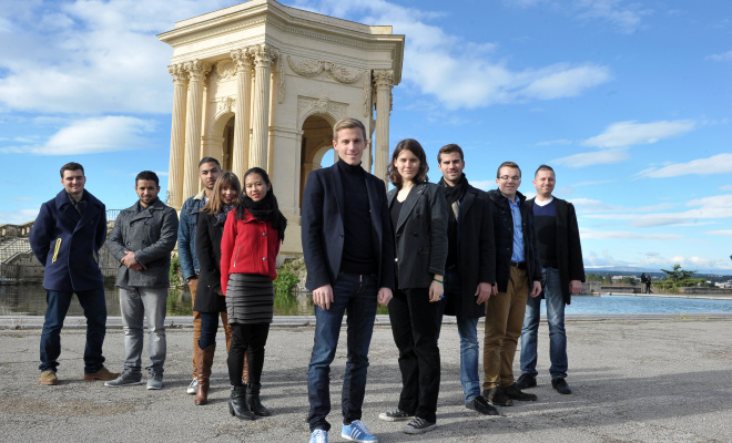 Photo de jeunes Place du peyrou