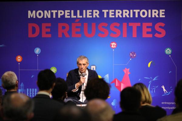 Présentation du bilan et des perspectives économiques de Montpellier Méditerranée Métropole par Philippe Saurel en 2018