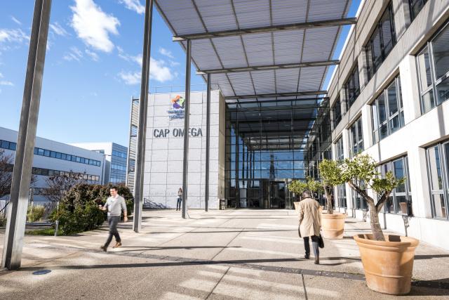 Située dans le quartier Eurêka, Cap Omega propose des locaux adaptés aux entreprises du secteur numérique et hautes technologies. ©David Crespin