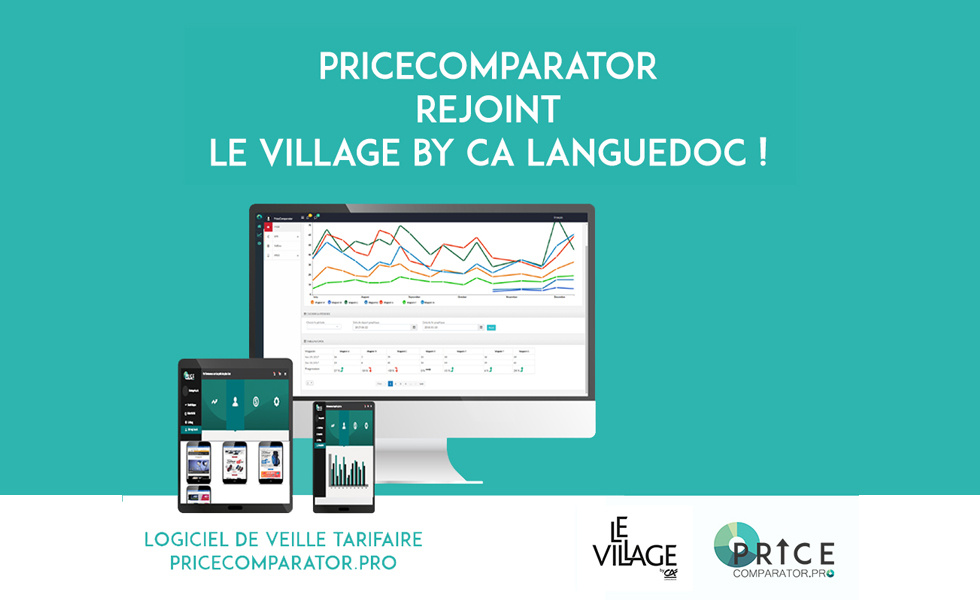 PriceComparator rejoint le Village by CA Languedoc