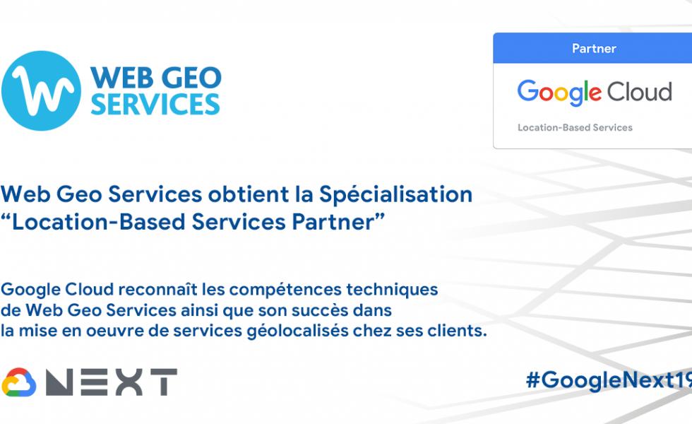 """Web Geo Services obtient la Spécialisation """"Location-Based Services Partner"""""""