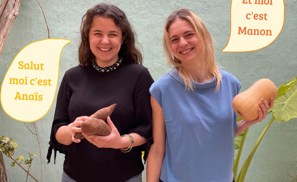 Les fondatrices de PimpUp, Anaïs (à gauche) et Manon (à droite)