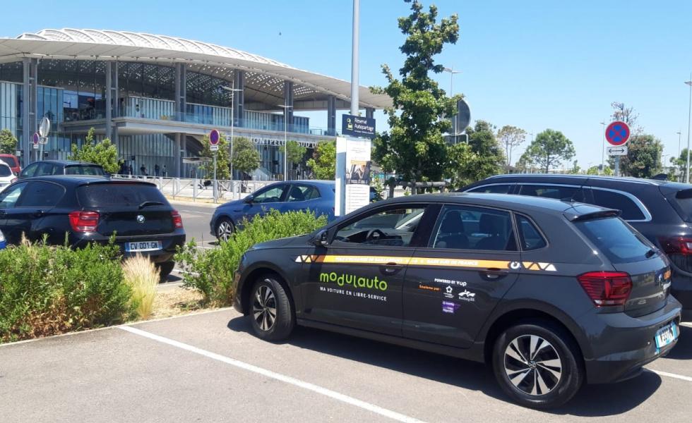 Gare Sud de France - Application location de voitures en autopartage libre-service
