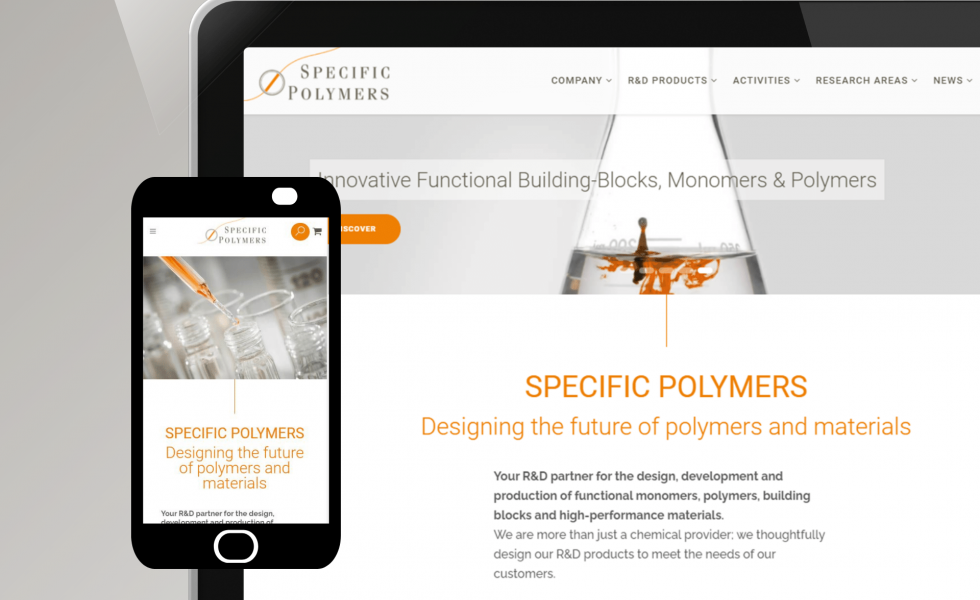 website launch specificpolymers