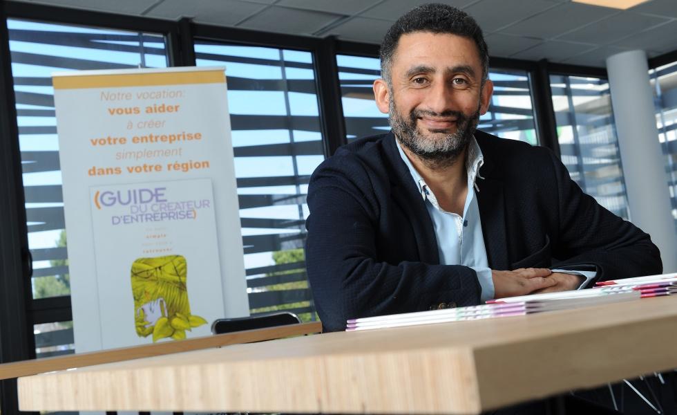 Franck Beuttin, éditeur du «Guide du créateur d'entreprise» @Edouard Hannoteaux