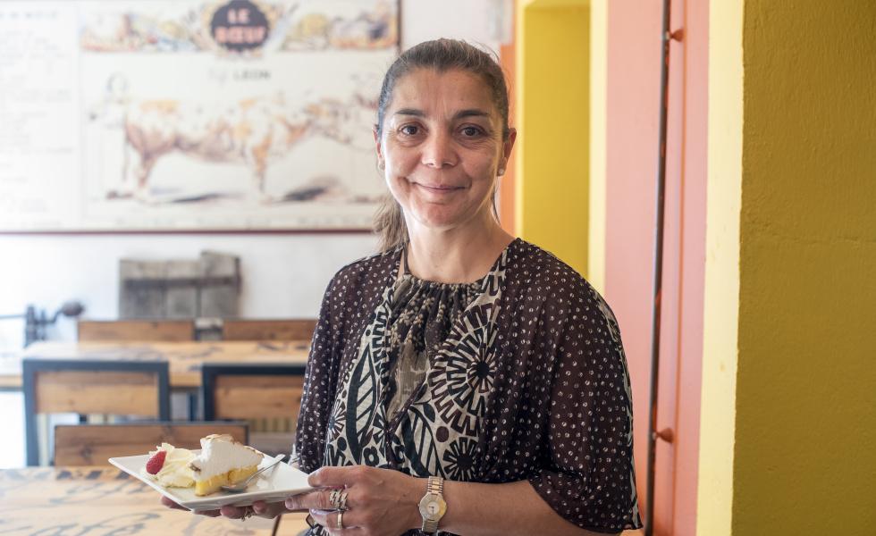 Ghislaine Masson, gérante du Café Léon
