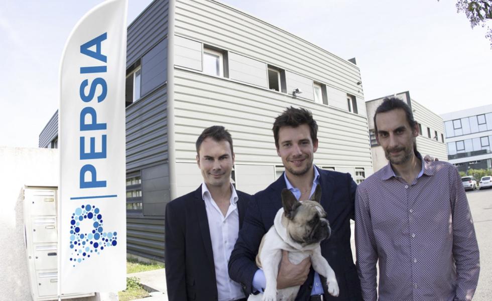 Les trois associés fondateurs de Pepsia : Valentin David, David Nicolas et Matthieu Ternon