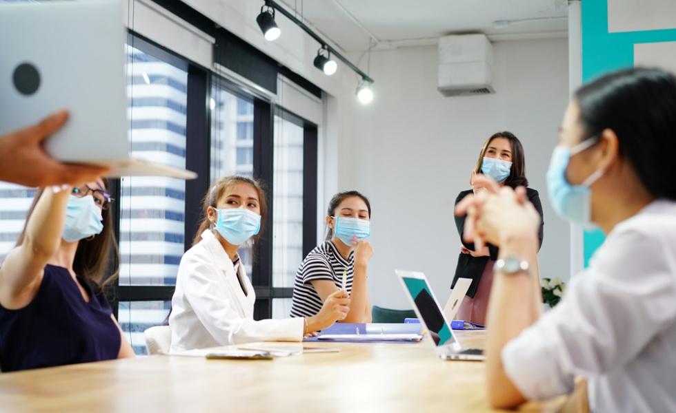 Photo d'illustration d'une réunion en entreprise