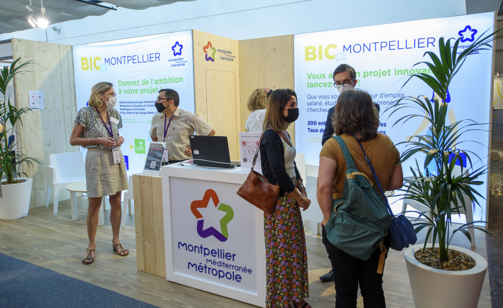 Photo de la Place Créative 2021 et du stand du BIC de Montpellier @David Maugendre