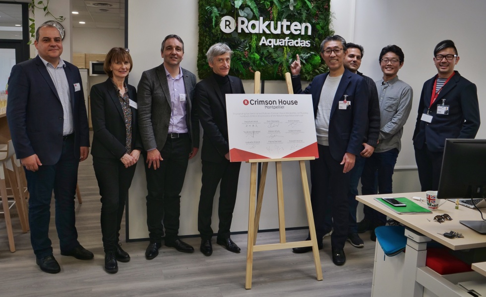 Photo d'une partie de l'équipe Rakuten à French South Digital @DR