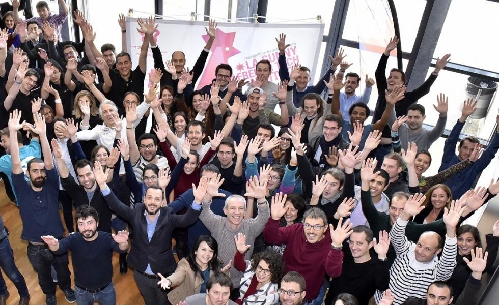 Photo de l'équipe du BIC et des entrepreneurs.