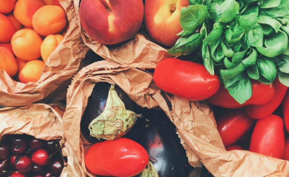 Panier de fruits et légume