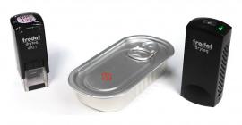Marquage sur boite aluminium avec le système Dryteq