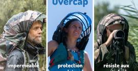 Overcap, la capuche rigide et indépendante, protection météo 3 en 1 (pluie, soleil, vent fort), 100% confort