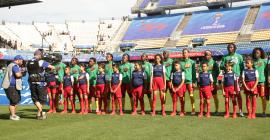 Les jeunes enfants de l'école primaire de la Mosson lors de la Coupe du Monde Féminine de Football @Getty Images/FIFA