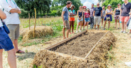 La ferme urbaine d'Oasis Citadine, à Flaugergues, initie à la permaculture.