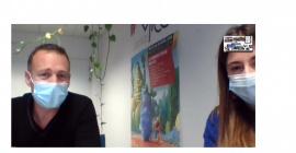 Romain et Ludivine du BIC de Montpellier en intervention lors des Doctoriales 2020