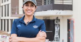 Majdouline Bakthi, créatrice de l'entreprise M & S Service Général Nettoyage