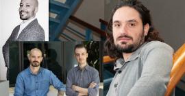 De gauche à droite : Jamyl Brahami - Bastien et Hansel Schloupt et Gianni Nardone