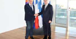 Philippe SAUREL, Maire de la Ville de Montpellier, Président de Montpellier Méditerranée Métropole a reçu Mr Teemu TANNER, Ambassadeur de Finlande en France